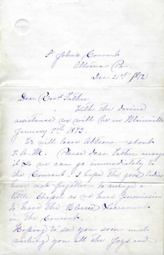 Letter, Mother Aloysia to Fr. Stillinger, Blairsville, 1872-min.pdf