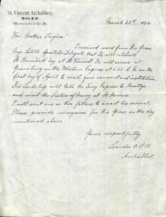 Letter, Archabbot Leander Schnerr to Mother Ann Regina 1894 2.pdf